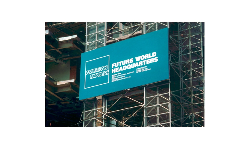 Signage at the American Express Headquarters in Battery Park City, NYC, a 2.2 million sq. ft. project