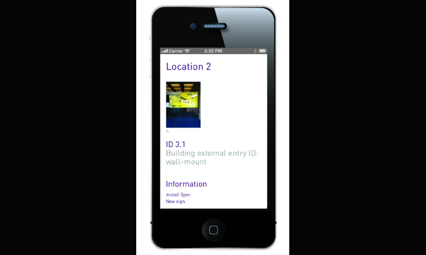 Users can click on plot points to view photos and other information about the location.