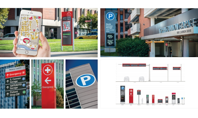 """Kolar Design worked with Ohio State University recently to implement a """"Highway to Hallway"""" visitor strategy. The comprehensive signage and wayfinding plan is designed to enhance the visitor experience for the Big Ten campus. (Talk)"""