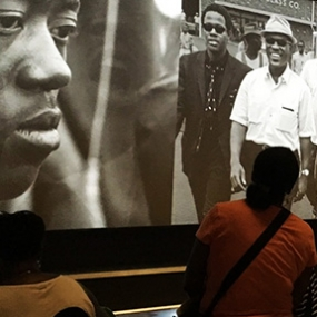 The Segregated Lunch Counter and Panorama of the Civil Rights Movement