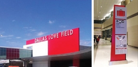 Photo of signage at Love Field in Dallas