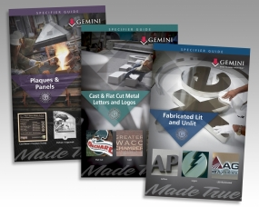 Gemini Sign Products Specifier Guides